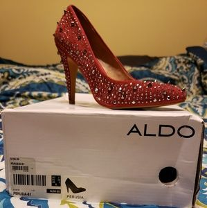NWT red spiked heels